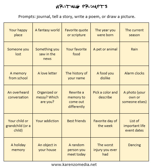 30 Journal Creative Writing Prompts Hamilton Academy